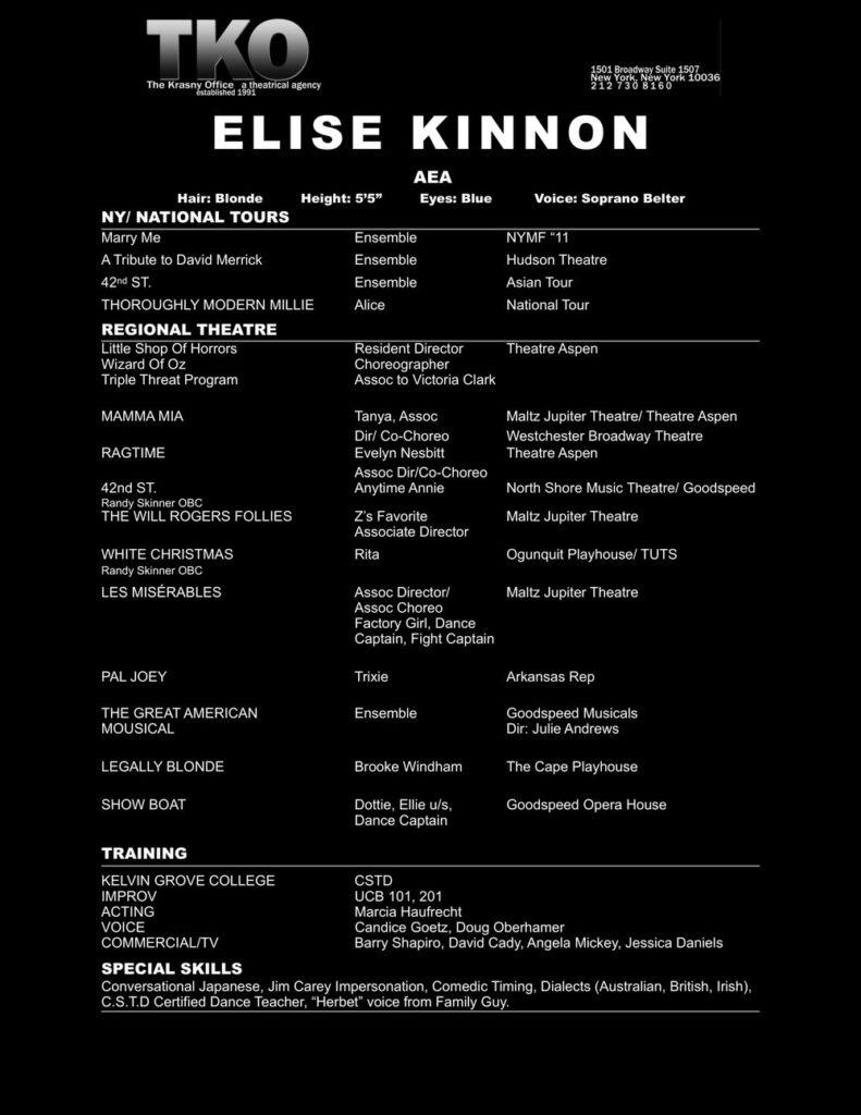 Resume 2019 eliss kinnon